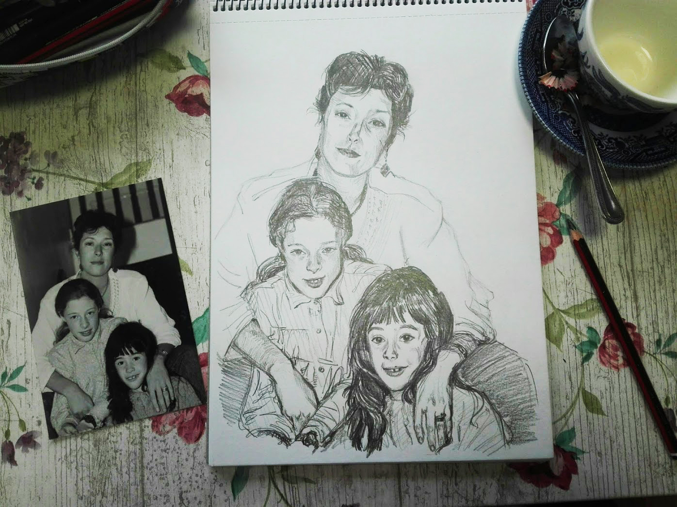 family - drawing