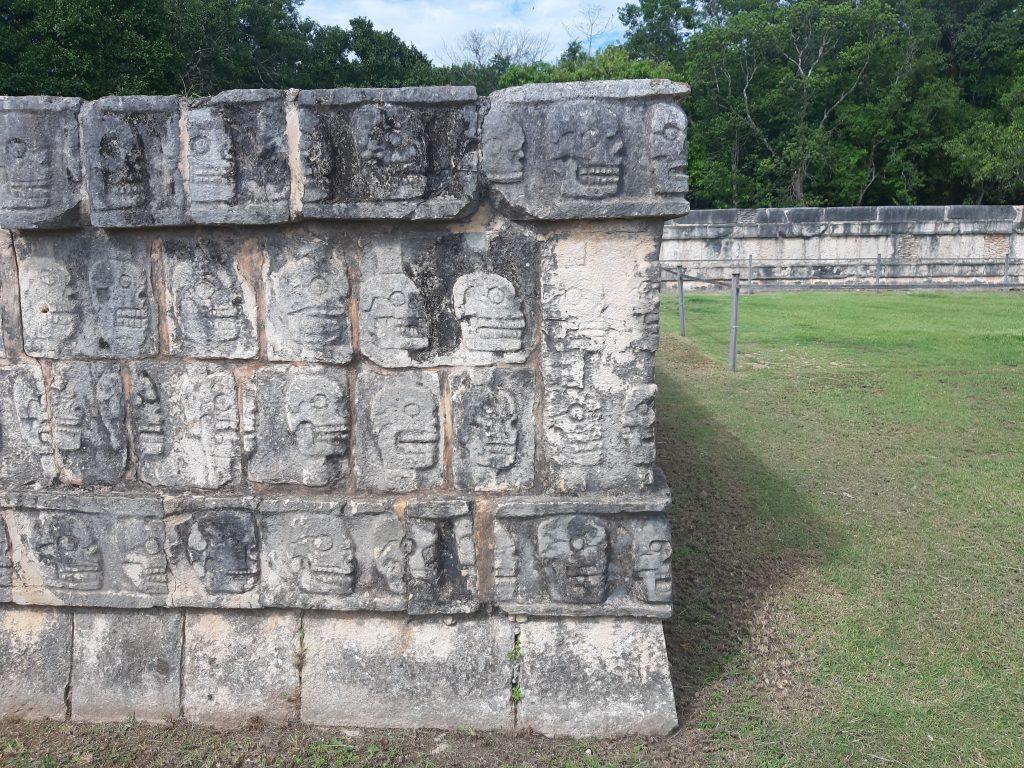 ścięte głowy Meksyk Chichen Itza