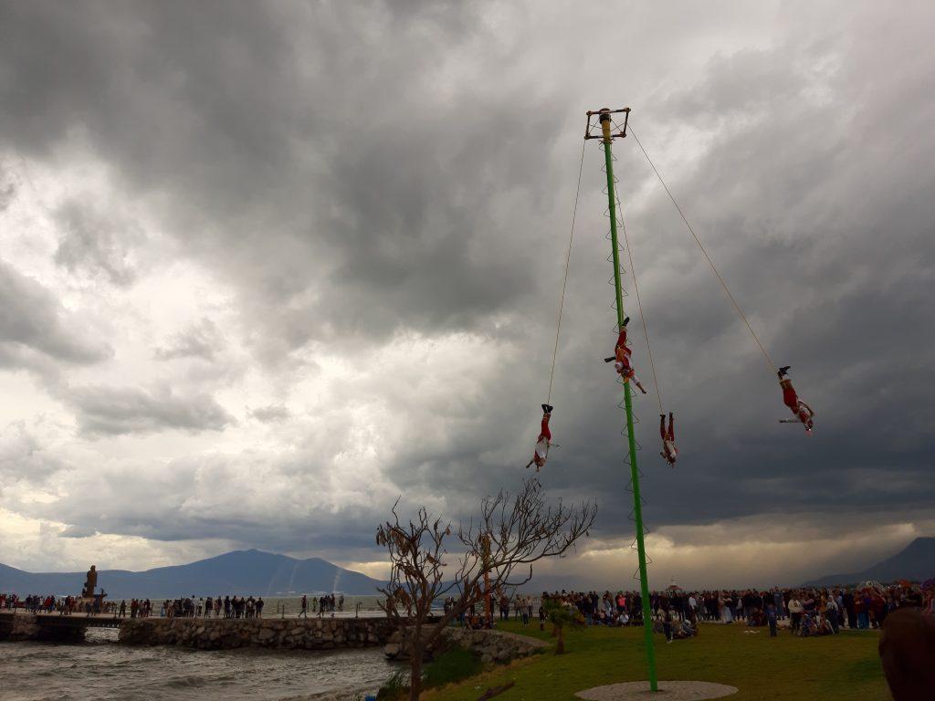 voladores de pepitlan, Chapala lake, jezioro CHapala, , Meksyk, Mexico