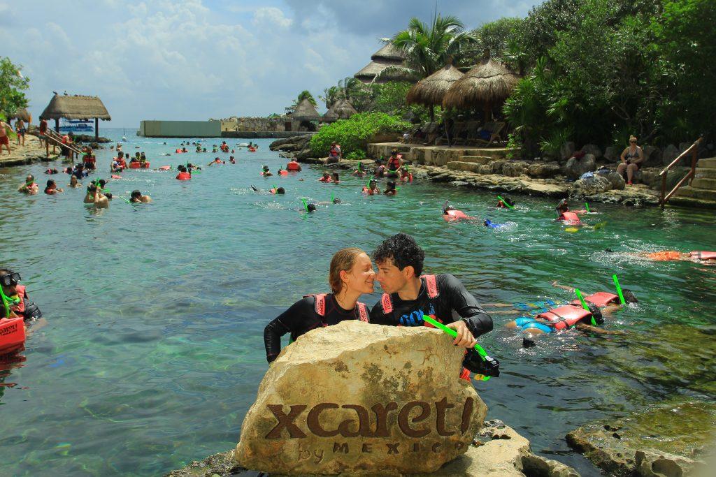 Park Xcaret, Yucatan, Mexico, Meksyk, Jukatan, snorkeling
