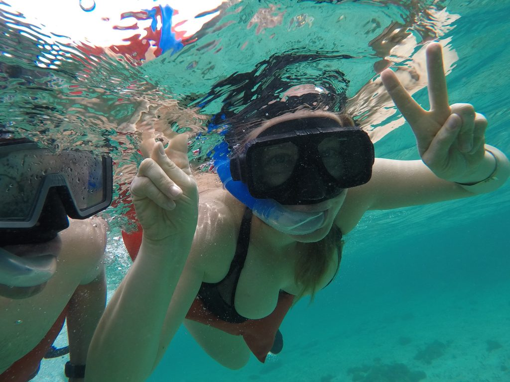 snorkeling, Isla Mujeres, Yukatan, Meksyk, Mexico