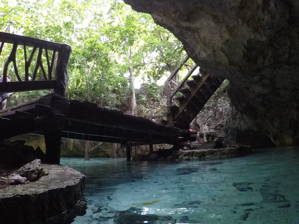 cenote, Jukatan, Yucatan, Meksyk, Mexico, bridge