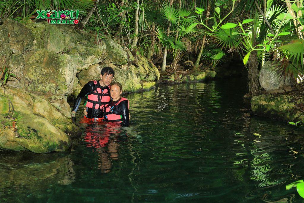 Park Xcaret, Yucatan, Mexico, Meksyk, Jukatan, river, rzeka