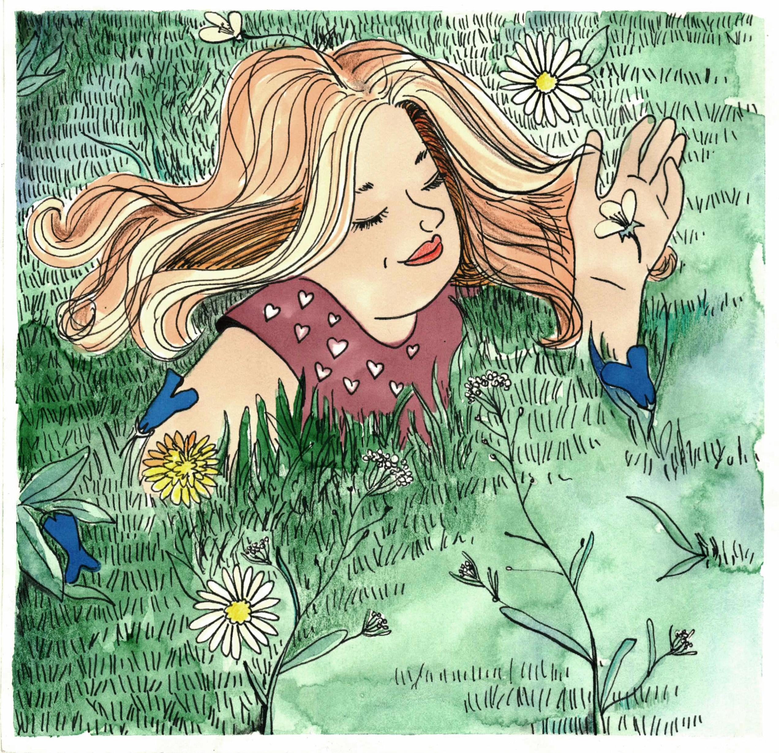 jedność z naturą ilustracja maria inspires