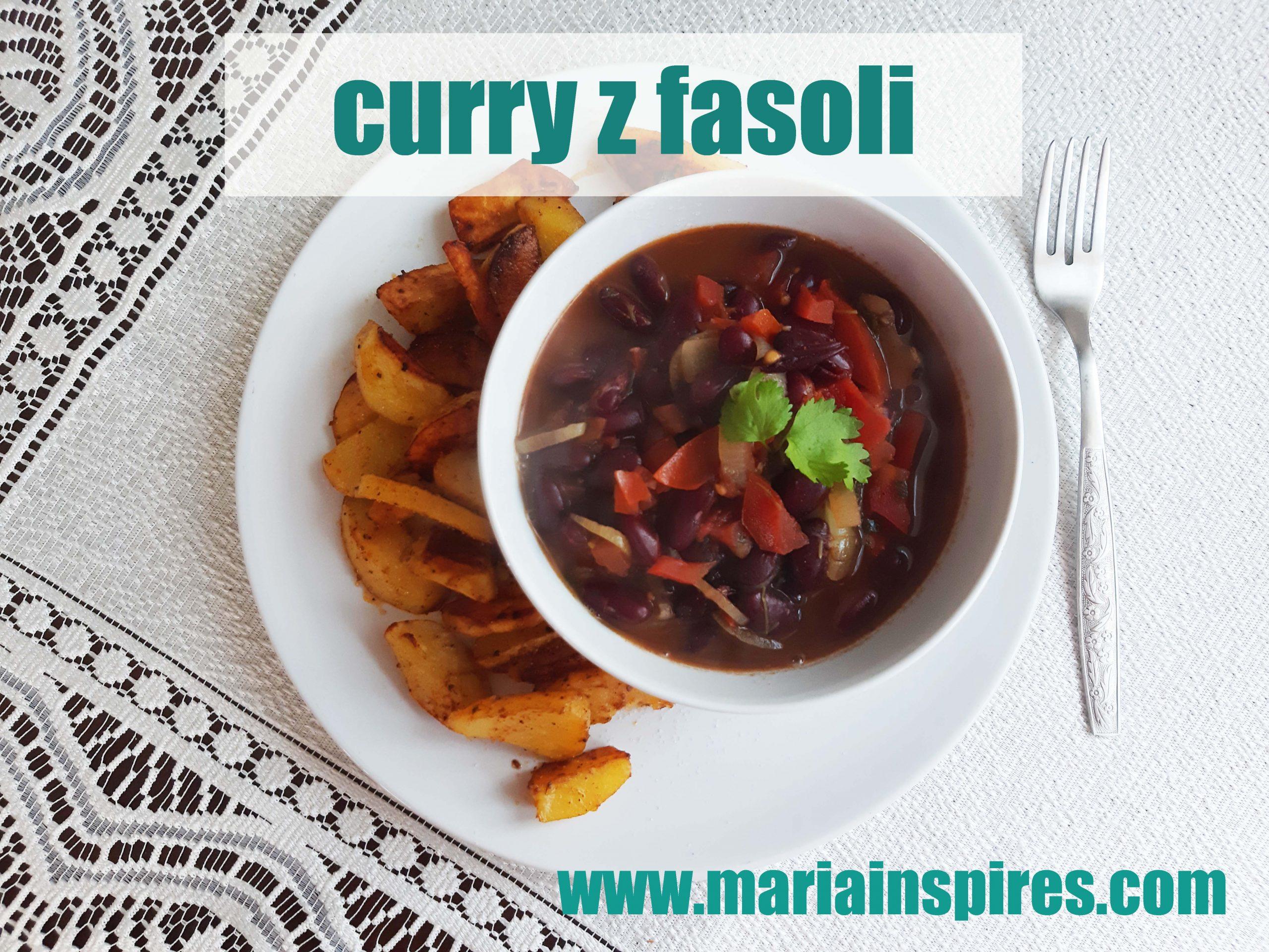 przepis na proste wegańskie curry z fasoli